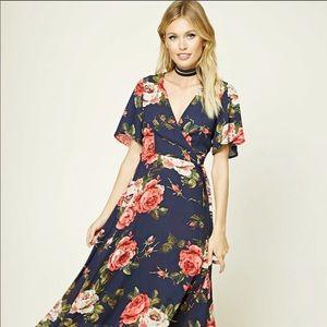 Forever 21 Contemporary Floral Wrap Dress